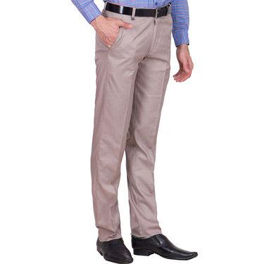 Tiger Grid Pack of 2 Cotton Formal Trouser For Men_Md020