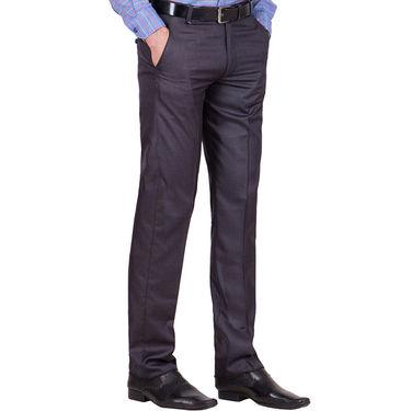 Tiger Grid Pack of 3 Cotton Formal Trouser For Men_Md040