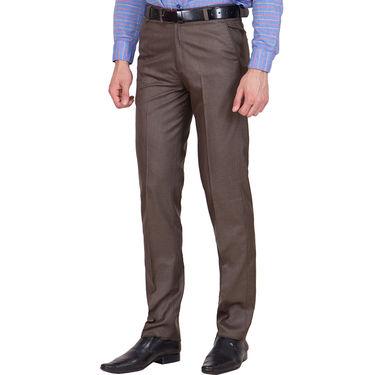 Tiger Grid Pack of 3 Cotton Formal Trouser For Men_Md043
