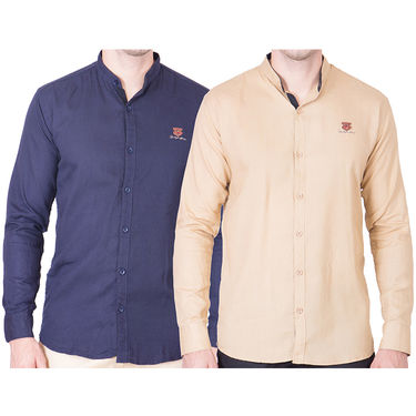 Cliths Pack of 2 Cotton Shirts For Men_Md071