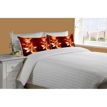 Mesleep White Double Bed Sheet With 2 Pillow Covers- SS-Pillow-02-28