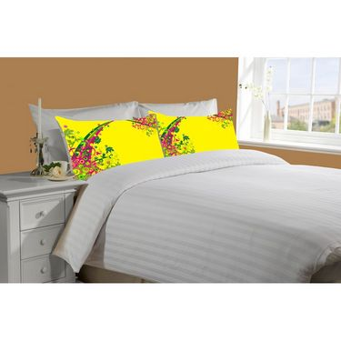 Mesleep White Double Bed Sheet With 2 Pillow Covers- SS-Pillow-02-31