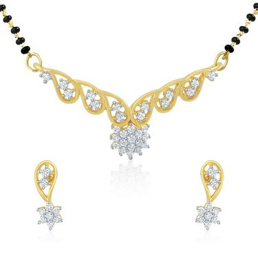 Mahi CZ Gold Plated Mangalsutra Set_Nl1101479g