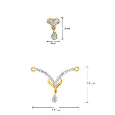 Mahi CZ Gold Plated Mangalsutra Set_Nl1101950g