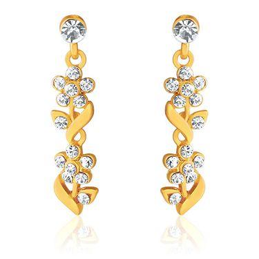 Oviya Gold Plated Floral & Leavy Crystal Necklace Set_NL2103006G