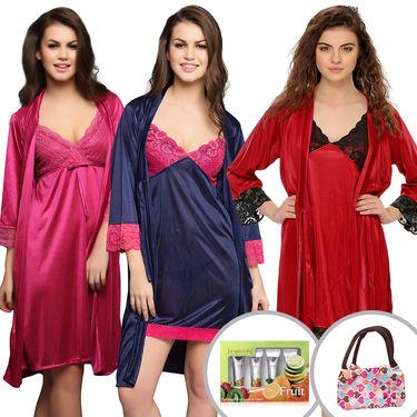Set Of 11 Pcs Clovia Nightwear, Facial Kit & Vanity Kit -NSC304C99