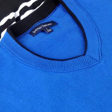 Branded Regular Fit Cotton Sweater_Os04 - Blue Black