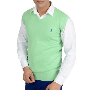Branded Regular Fit Cotton Sweater_Os10 - Light Green