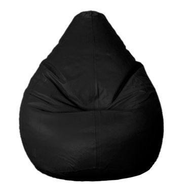 PSYGN Leatherette Standard Bean Bag Cover -  PBB200-BLACK-XL