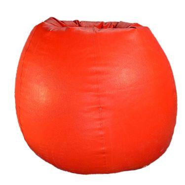 PSYGN Set of 2 Leatherette Standard Bean Bag Cover - PBB200-RED_BLACK-PBB200