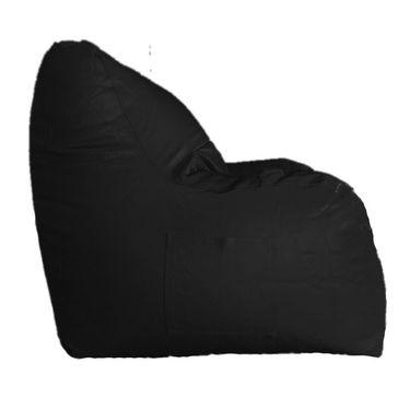 PSYGN Leatherette Chair Bean Bag Cover -  PBB302-BLACK-XXXL