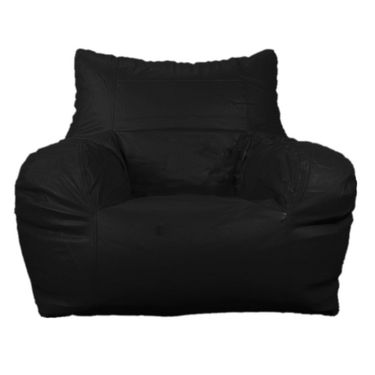 PSYGN Leatherette Chair Bean Bag Cover -  PBB303-BLACK-XXXL