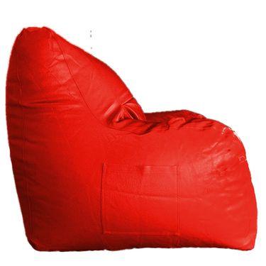 PSYGN Leatherette Chair Bean Bag Cover -  PBB305-RED-XXXL