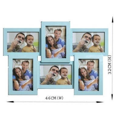 Beautiful Blue Collage Photoframe to Lock moments