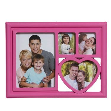 Charming Pink 4 Pictures Collage Photo Frame