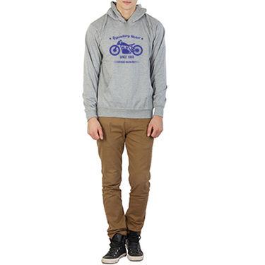 Printland Full Sleeves Cotton Hoodies_Pg1012 - Grey