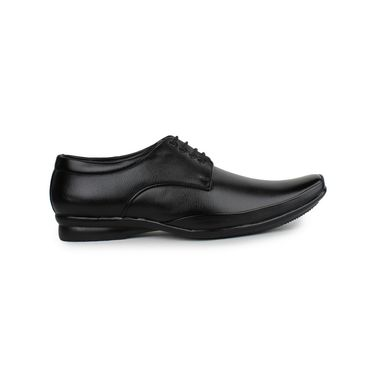 Pede Milan Synthetic Leather Black Formal Shoes -pde63