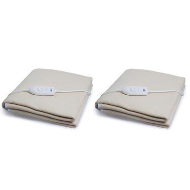 Set of 2 Expressions Polar Fleece Electric Single Blankets-POLAR04SB