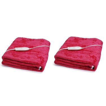 Set of 2 Expressions Mink Electric Single Blankets-POLAR104SB