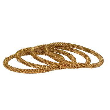 Pack of 4 Pourni Bangles Set_PRBG13 - Golden