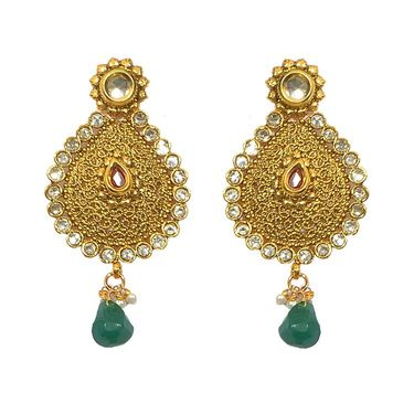 Pourni Exclusive Designer AD & Color Stone Earring_PRER32