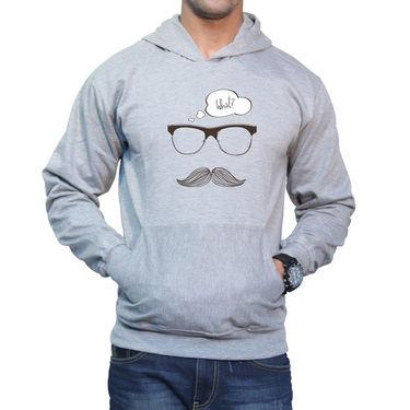 Effit Printed Regular Fit Full Sleeves Cotton Hoddies for Men - Grey_PTLHODY0063