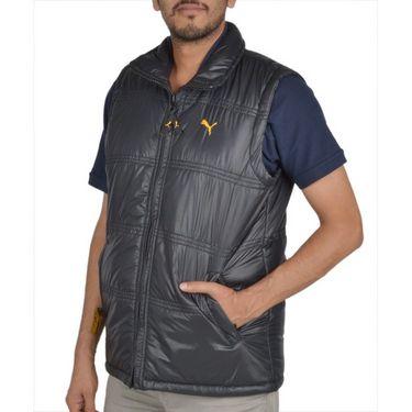 Branded Sleeveless Bomber Jacket (Polyester) For Men _PUMA-BLACK -  Black