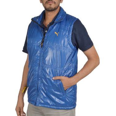 Branded Sleeveless Bomber Jacket (Polyester) For Men _PUMA-R.BLUE -  Royal Blue