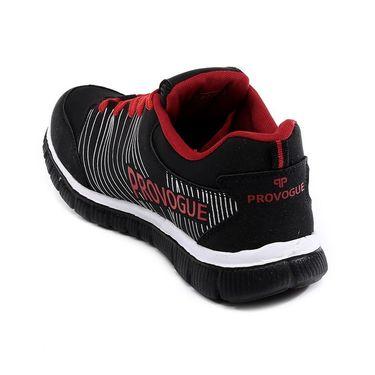 Provogue Black & Red Sports Shoes -Pv1063