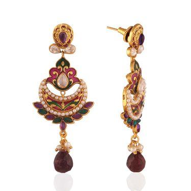 Panini Designer Dangle Earrings - Multicolour _ F-133