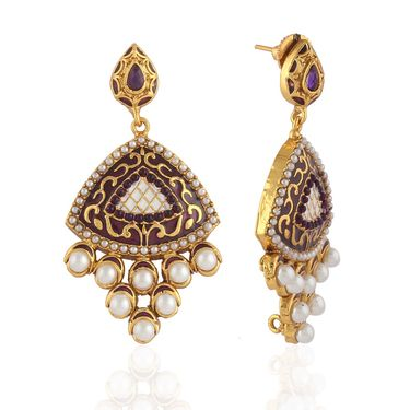 Panini Designer Dangle Earrings - Multicolour _ F-304