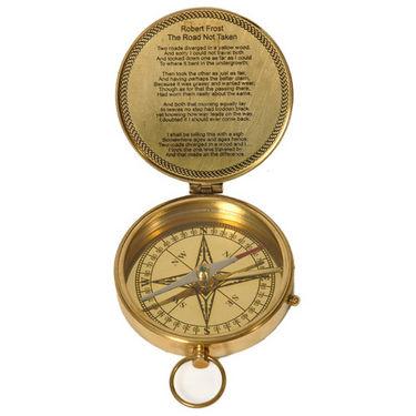 Pure Brass Direction Finder Traveller Compass 218