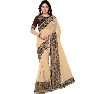 Indian Women Georgette Printed Saree -RA10615