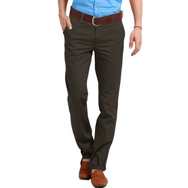 Perfect Plain Slim Fit Cotton Chinos For Men_rgc6001 - Dark Brown