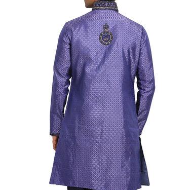 Runako Silk Full Sleeves Kurta Pyjama_RK4079 - Dark Purple