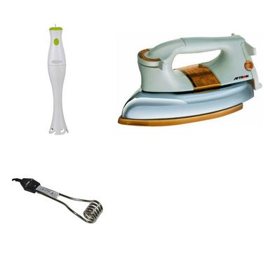 Combo Of Detak Hand Blender With Heavy Duty Dry Iron