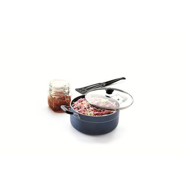 RECON MasterChef Non Stick Casserole with Glass Lid 260mm (5.5ltr)_RMGCR260