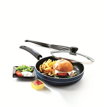 RECON MasterChef Induction Bottom Fry Pan with Glass Lid 235mm_RMIFP235