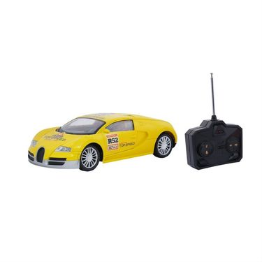 Fully Loaded 1:16 Rechargeable Remote Control R52 Racing Car Toy - Yellow