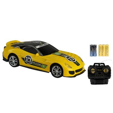 Fully Loaded 1:20 Rechargeable Remote Control Sports Car Toy - Yellow