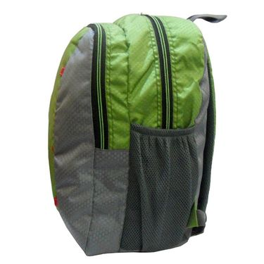 Donex Designer Light weight College Backpack Green Grey_RSC00885