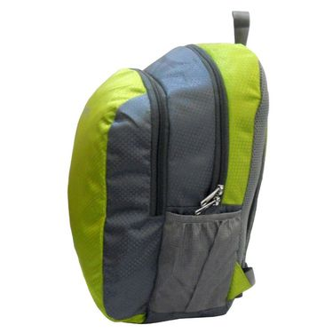 Donex Kool Light weight College Backpack Green Grey_RSC00890