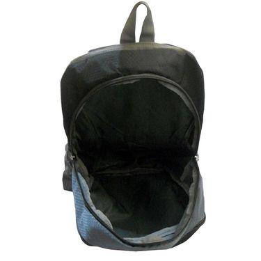 Donex Kool Light weight College Backpack Black Grey_RSC00892