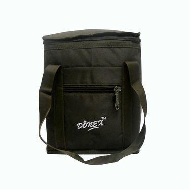 Donex Big Padded Polyster Lunch Bag Brown_RSC00973