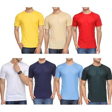 Pack of 7 Rico Sordi Half Sleeves Plain Tshirts_RSD728