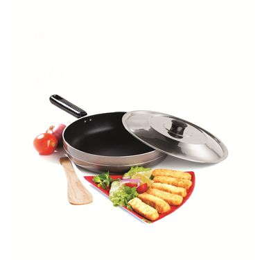 RECON UniChef Non Stick Fry Pan with Steel Lid 255mm_RUCFP255
