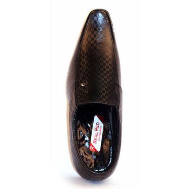 Real Red Formal Shoes for Men - Black-5230