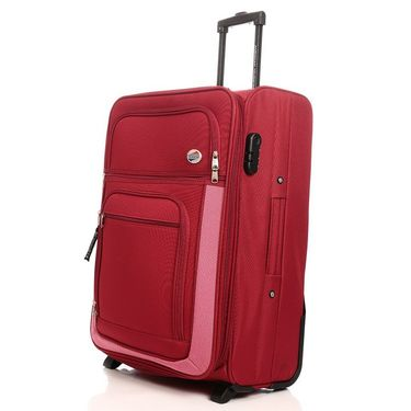 American Tourister Polyester Strolley Red 2 Wheel 74 -Red