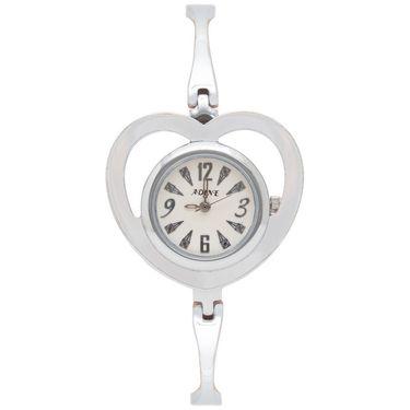 Adine Analog Round Dial Wrist Watch For Women_Rsw09 - White