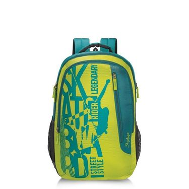 Skybags Lime Green Laptop Backpack_Pixel plus 01 lime Green